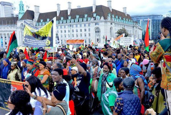 Reparations Day march in London, August 2019.