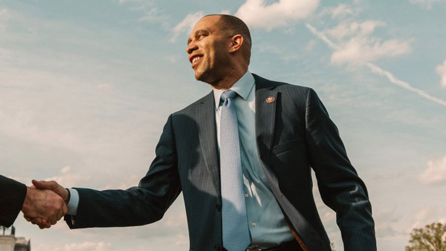 Representative Hakeem Jeffries on Capitol Hill in Washington, D.C. on April 9, 2019.
