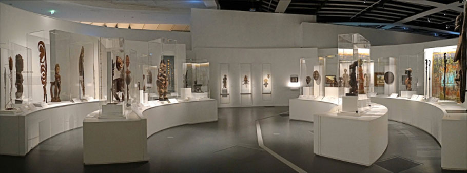 "room of masterpieces acquired over 20 years"" displayed at the Quai Branly Museum"