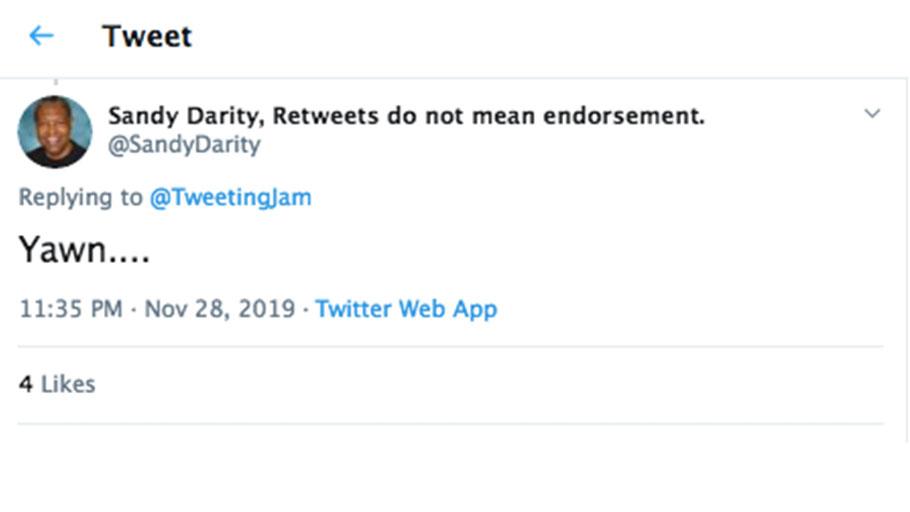 Sandy Darity Tweet