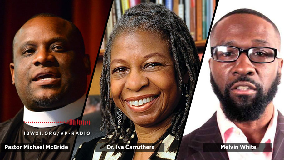 Dr. Ron Daniels aka The Professor talks with guests Dr. Iva Carruthers, Pastor Michael McBride, and Melvin White.
