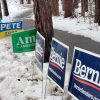 Entrance to the Ward 5 polling station in Keene, New Hampshire.