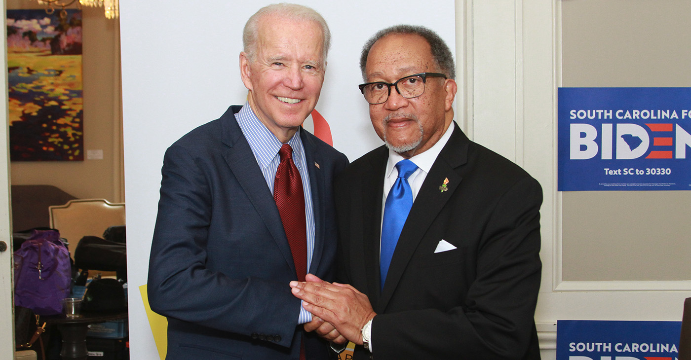 Joe Biden and Dr. Benjamin F. Chavis, Jr.