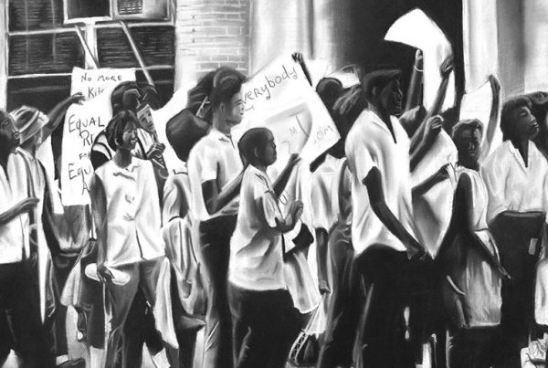 """""""Plight of the People"""" Illustration by Brian Washington."""