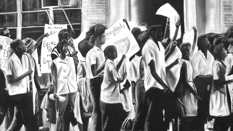 """Plight of the People"" Illustration by Brian Washington."