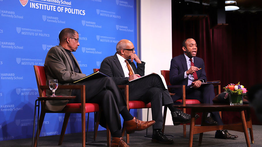 Law School Professor Randall L. Kennedy and Kennedy School Professor Cornell Brooks spoke Friday at the IOP Forum about the need for reparations.