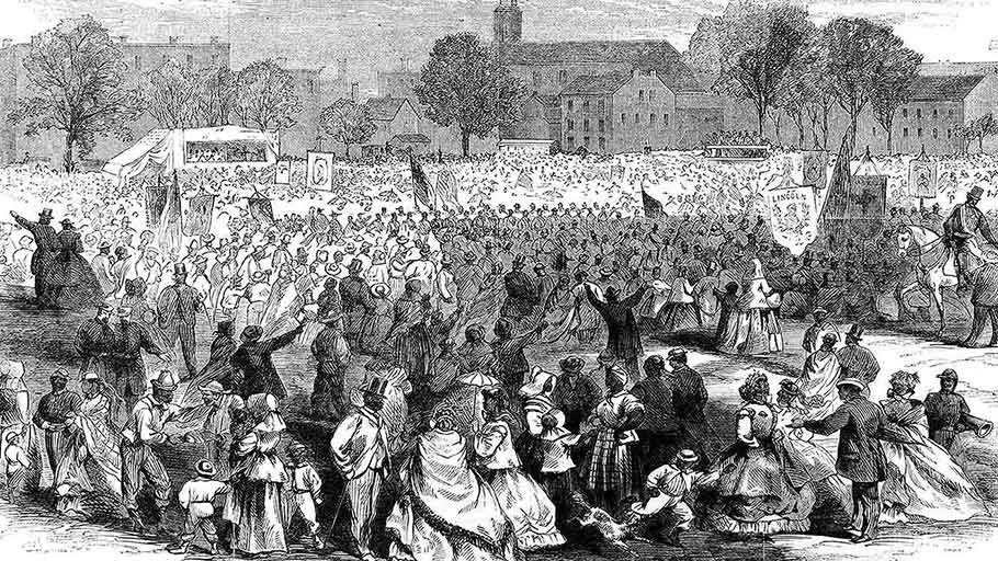 """Celebration of the Abolition of Slavery in the District of Columbia by the Colored People, in Washington, April 19, 1866,"""""""