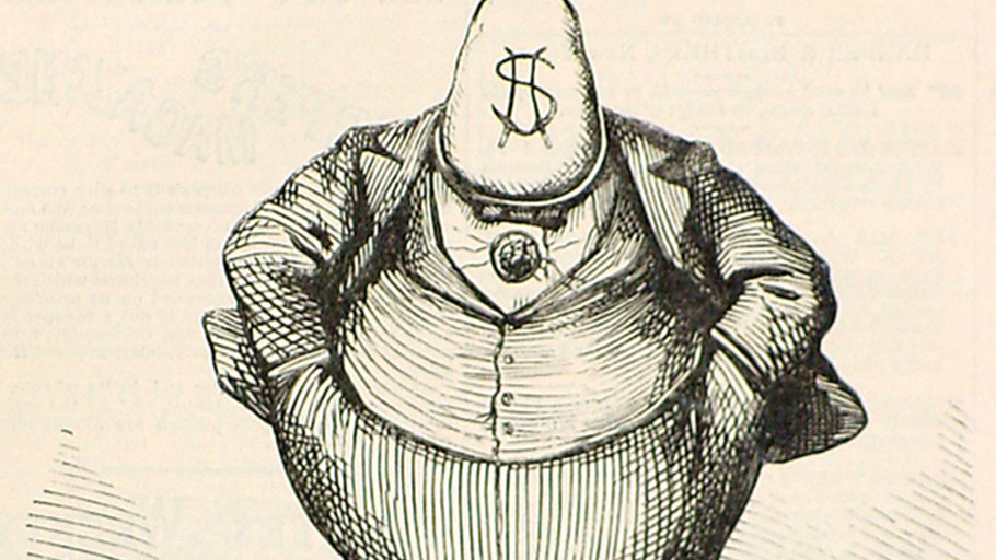 Political cartoonist Thomas Nast's 1871 depiction of New York City's Boss Tweed, an inspiration for today's elite political class.