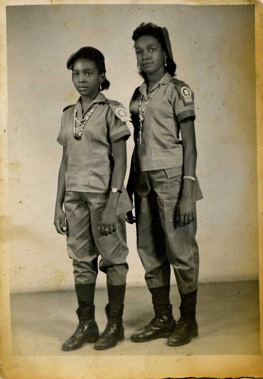 Norma Guillard and her sister take part in the 1961 Literacy Campaign.