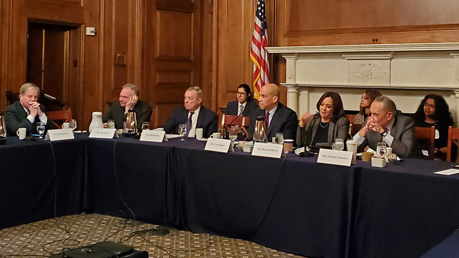 Senators Booker and Harris Lead Roundtable Discussion on Issues Concerning African Americans