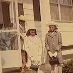 Felicia Middlebrooks (R) with her sisters and mother (L) on Easter Sunday Gary, Indiana c.1970