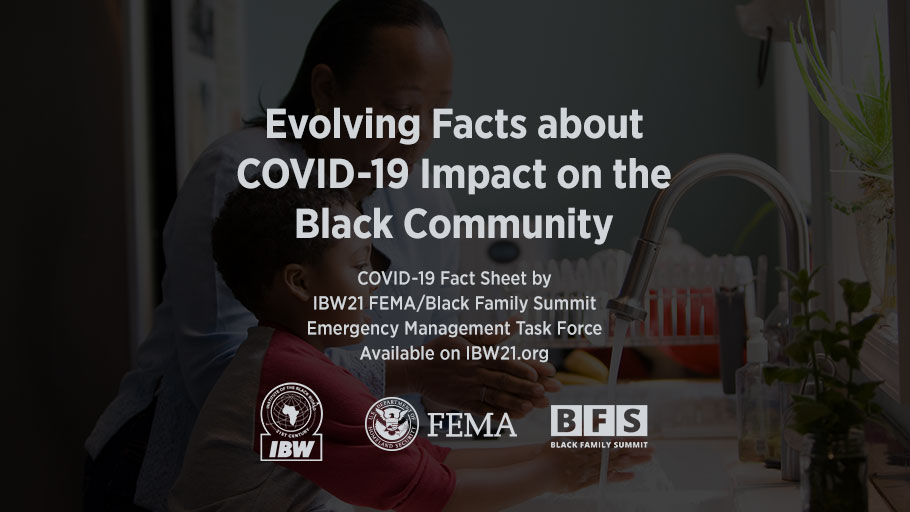 Institute of the Black World 21st Century FEMA/Black Family Summit Emergency Management Task Force Evolving Facts about COVID-19 Impact on the Black Community