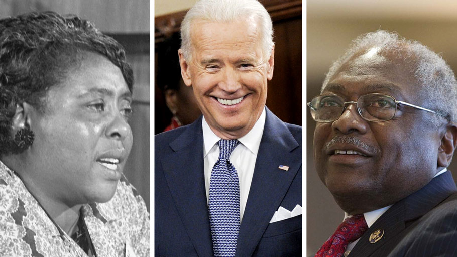 Image of Fannie Lou Hamer, Joe Biden, James Clyburn. Will Joe Biden Have A Black Agenda? Vantage Point Article By Dr. Ron Daniels.
