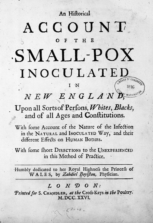 Account of the small-pox inoculated in New England - U.S. Library of Congress