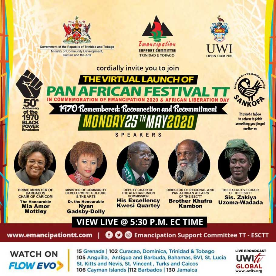 Virtual Launch of Pan African Festival TT - Monday, May 25th 5:30 PM