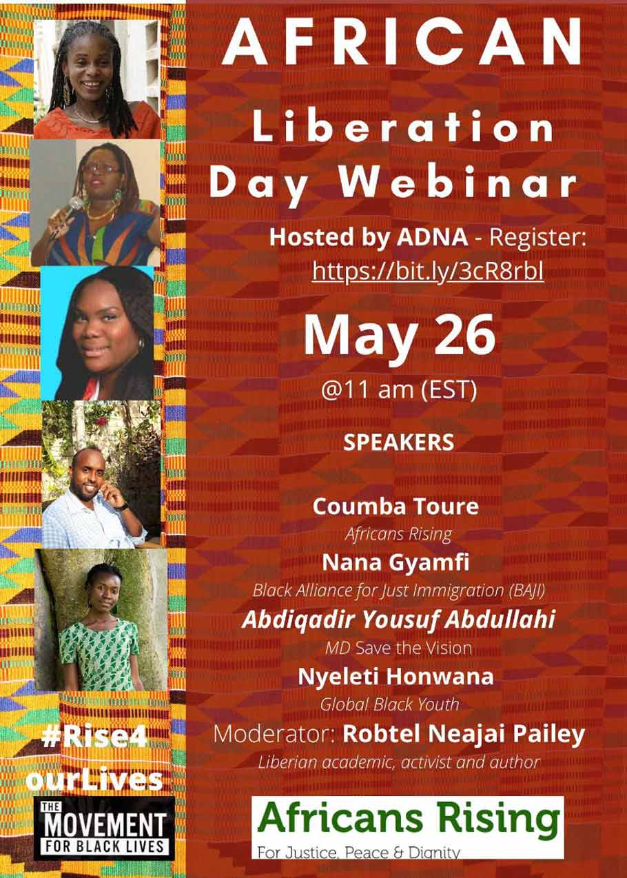 Advocacy Network for Africa, ADNA will host a virtual event that will brief the audience about COVID-19 in Africa and the diaspora, the responses taking place, and what needs to happen to mitigate COVID-19.