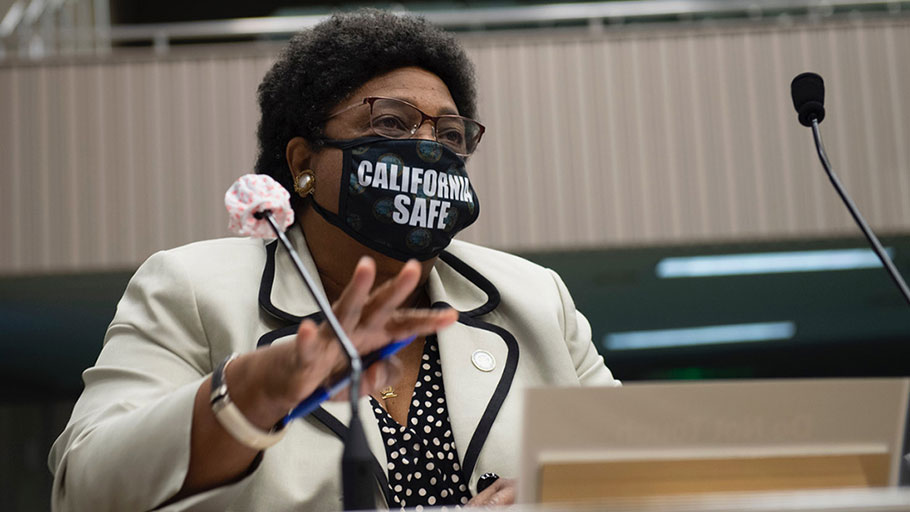 Assemblymember Shirley N. Weber (D-San Diego) presents her reparations bill in the Assembly Judiciary Committee. Photo courtesy of California State Assembly