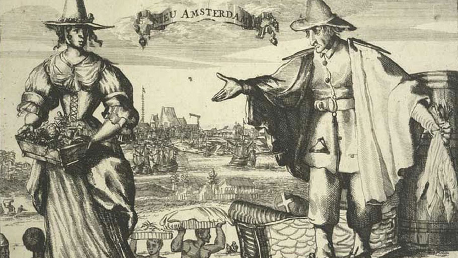 Enslaved Africans serving in Nieu Amsterdam