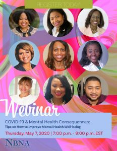 National Black Nurses Association and the Black Nurses Association, Miami Celebrate National Nurses Week, May 6-12, 2020 with Free Webinar: COVID-19 & Mental Health Consequences