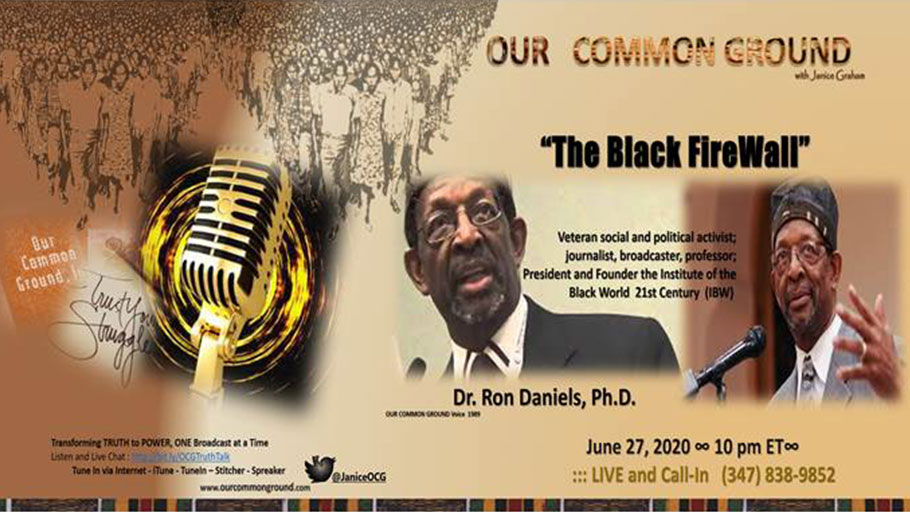 Dr. Ron Daniels on Our Common Ground with host Janice Graham