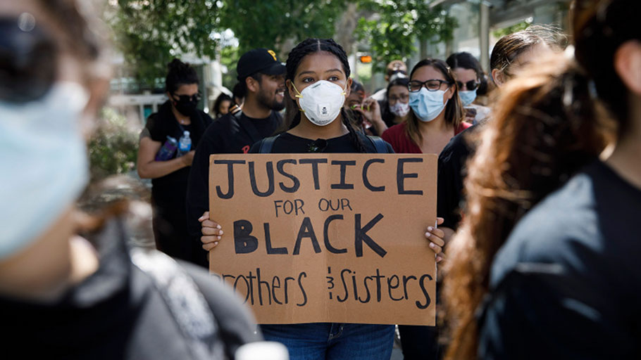 A California bill proposes a reparations committee to redress the nation's past on slavery. Protesters march on East Santa Clara Street in San Jose on May 29, 2020, after the death of George Floyd in Minneapolis.