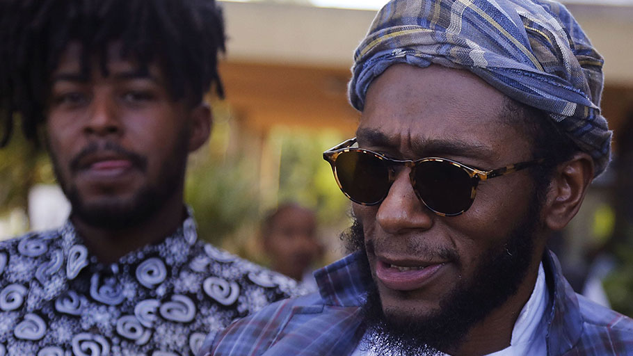 Yasiin Bey, formerly known as Mos Def, right, in Bellville, South Africa, in 2016.
