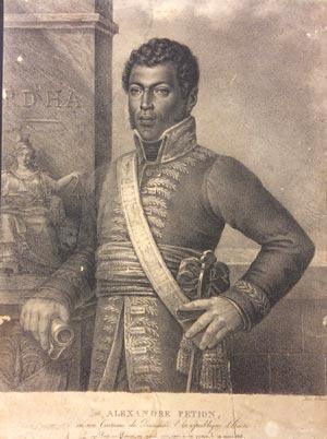A portrait of Alexandre Pétion.