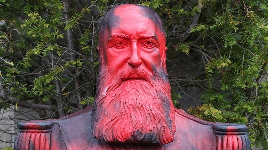 Protesters vandalised a statue of former Belgian King Leopold II at the Africa Museum, in Tervuren, near Brussels, earlier this month