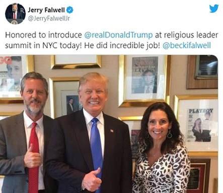 Jerry Falwell Tweet