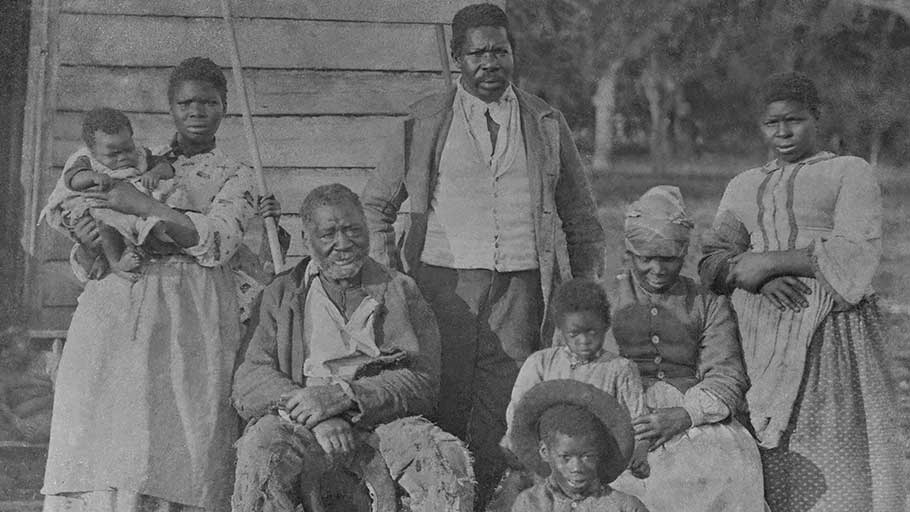 Five generations of a slave family.