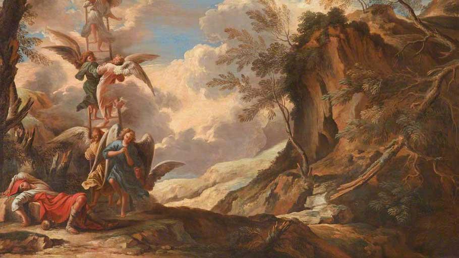 'Jacob's Dream' by Salvador Rosa (c. 1665).