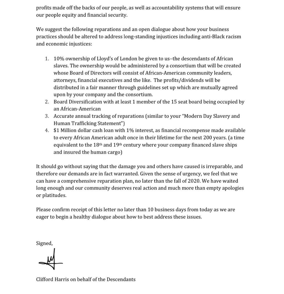 Reparations: T.I.'s Open Letter to Lloyd's of London - page 2
