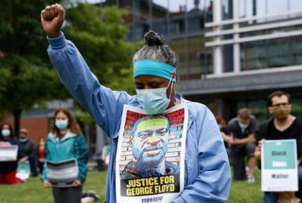 Healthcare workers walk out for Black Lives, 1199SEIU
