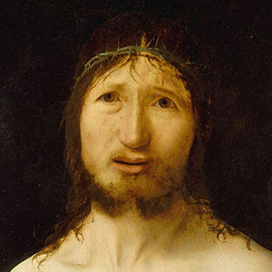 Christ crowned with thorns.
