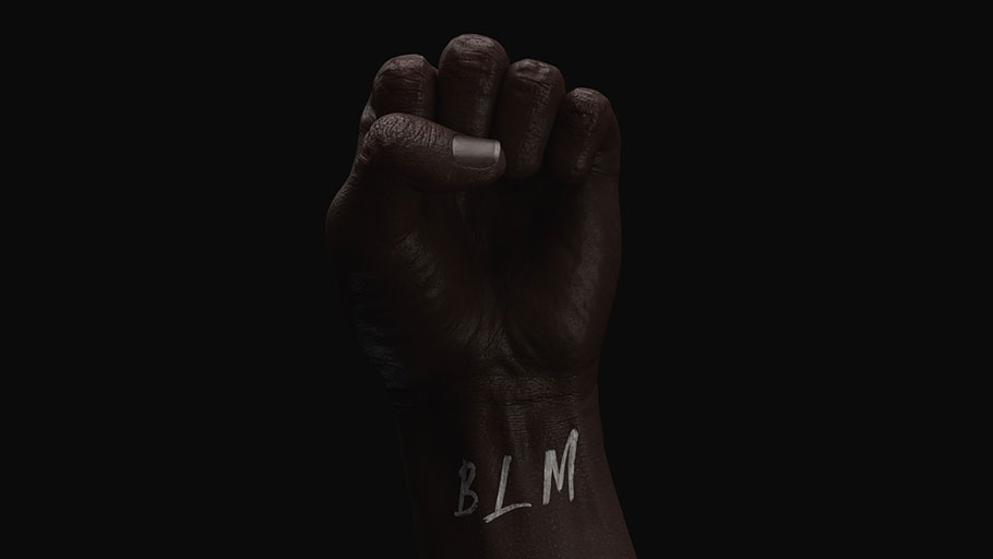 Black Lives Matter, Black Fist.