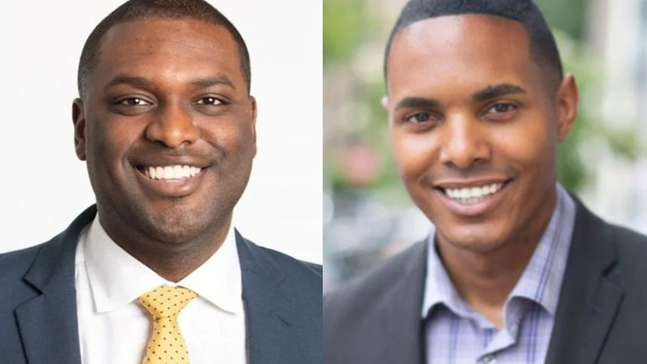 Mondaire Jones, left, and Torres Ritchie, are poised to become the nation's first Black gay men elected to Congress after Tuesday's primary vote. (Photo: Mondaire for Congress/Ritchie Torres/Twitter)