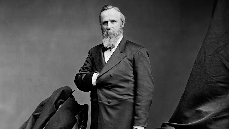 President Rutherford Hayes claimed to be a friend of African Americans' rights. He wasn't.