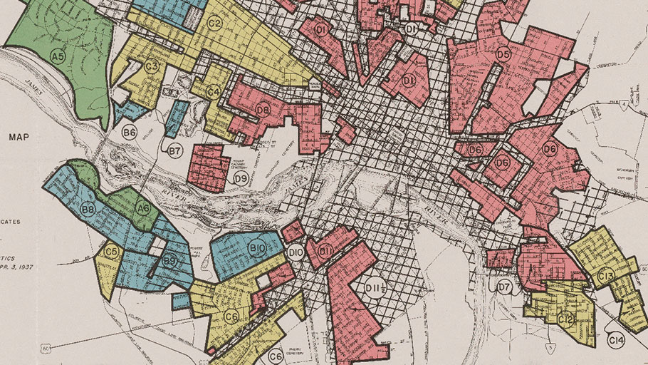 "A ""redlining"" map of Richmond, Virginia, from 1937"