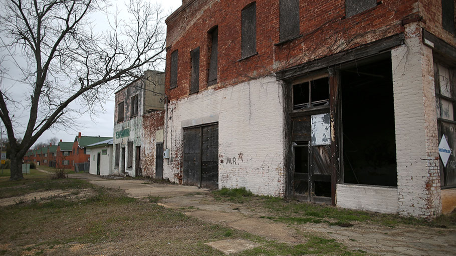 Fifty years after police brutality toward young Blacks in Selma, Alabama, awakened whites to violent racism in the U.S., Selma, shown here, is a struggling city.