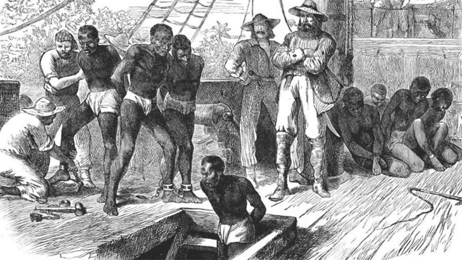 Enslaved men on slaveships