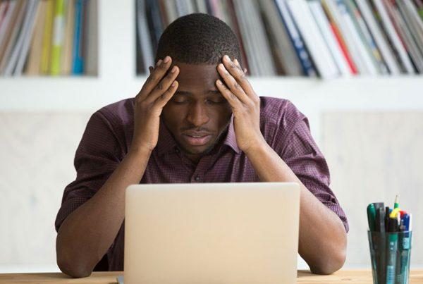 Stressed Black Man