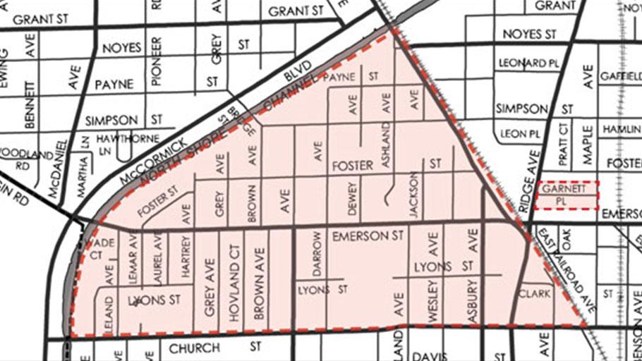 Evanston Fifth Ward Map