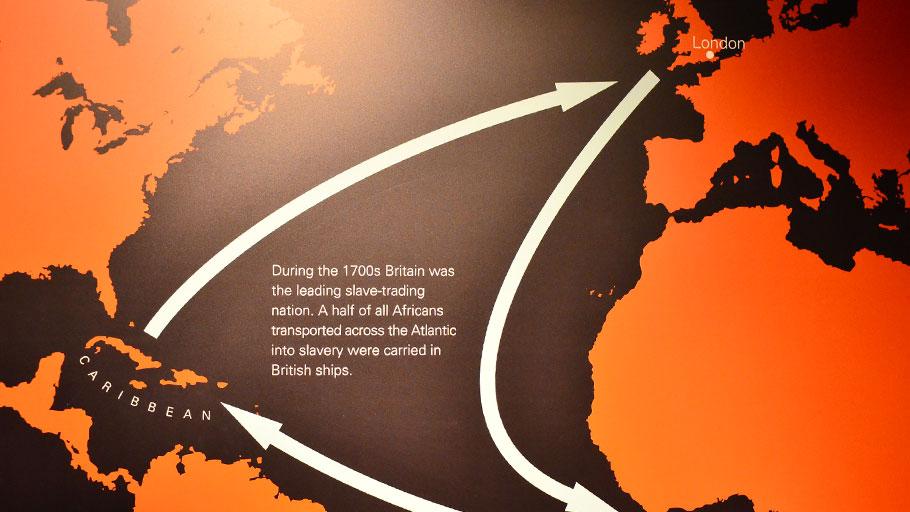 The slave trade triangle