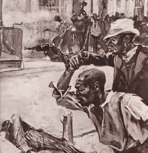 Black resistance to the racisr massacre was strong... but not enough to fight off the larger racist mob.