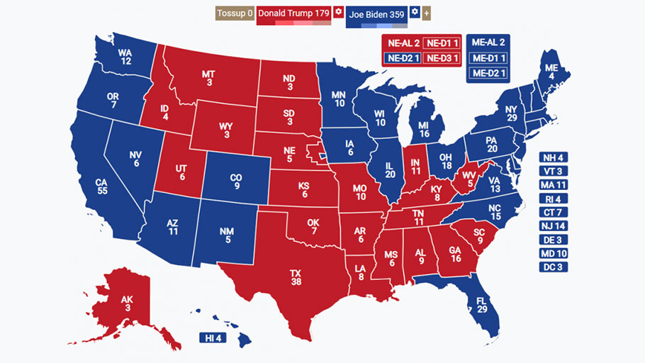 electoral votes election 2020 map us