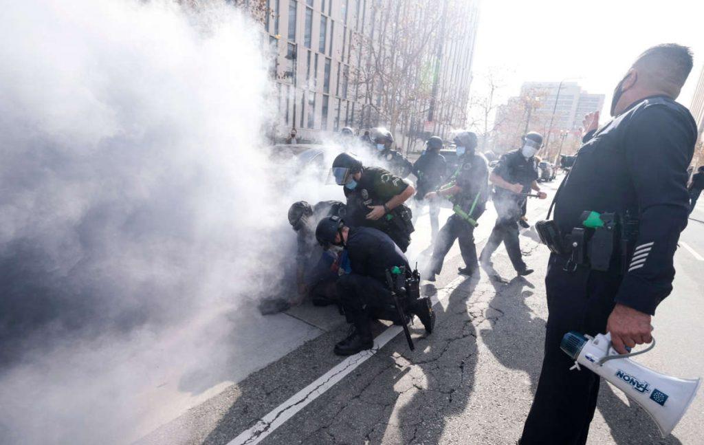 police-tear-gas