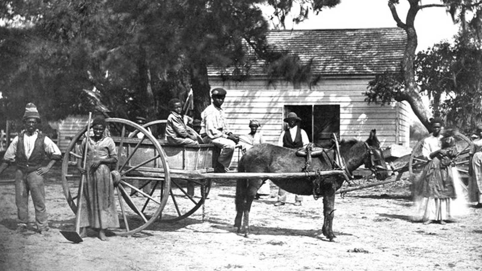 Slaves on Edisto Island, South Carolina in 1862