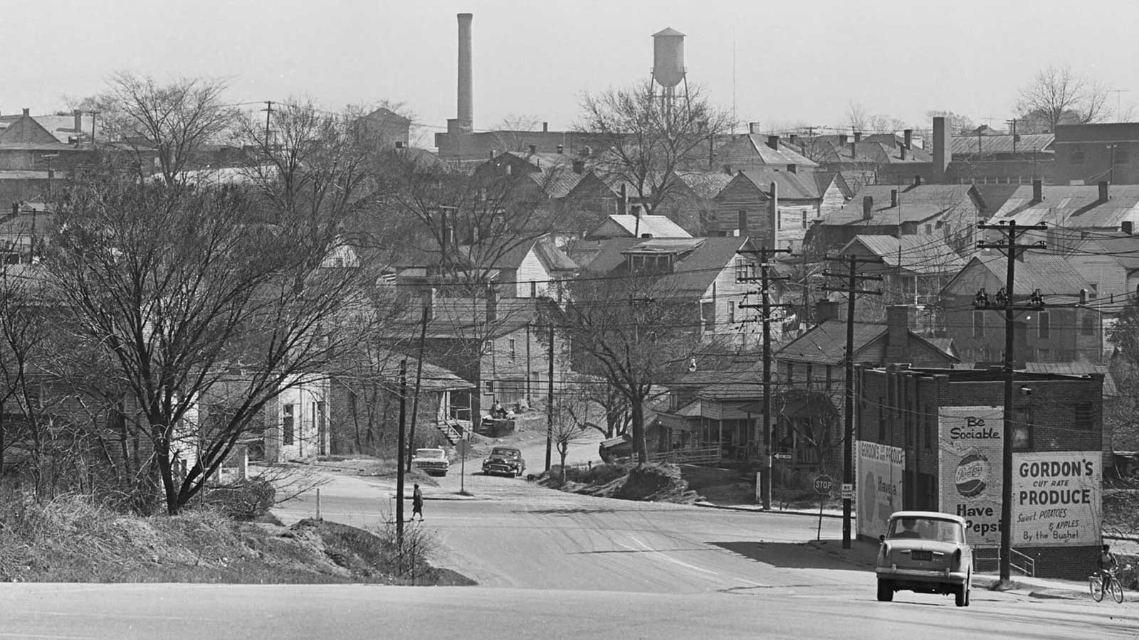 Hayti community that was cleared out during Durham's Urban Renewal project.