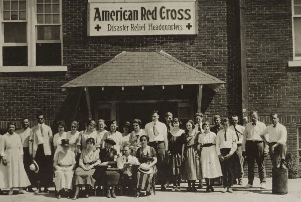 The American Red Cross Disaster Relief Headquarters in Tulsa, 1921