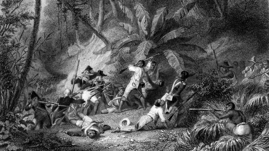 """""""Battle of Ravine-à-Couleuvres,"""" by Karl Girardet and Jean-Jacques Outhwaite"""